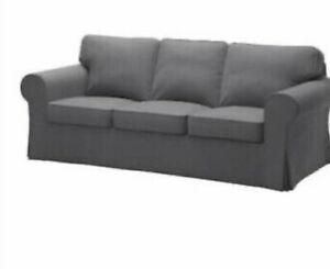 Brand New Ikea Cover for Ektorp 3 Seat Sofa in Nordvalla Grey 803.223.27