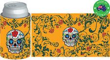 6x Designer Beer Can STUBBY HOLDER Stubbie Cooler Koozie with base Skull Mask
