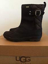 UGG Womens 5 Paladin Winter Boots Black 1001730 Leather Waterproof (Youth 3)