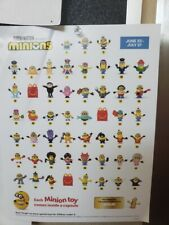.MCDONALDS 2020 MINIONS RISE OF GRU   GOLD & REGULAR  PICK YOUR TOY  NIP