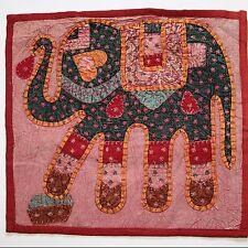 Kissenhülle Patchwork Elefant  Dekokissen Kissenbezug 40 x 40 cm Bordeaux