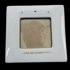 Grasslands Road I Love My Godmother Photo Picture Frame White Ceramic