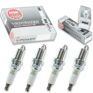 4 pcs NGK V-Power Spark Plugs for 1990-2002 Honda Accord 2.2L 2.3L L4 - ko