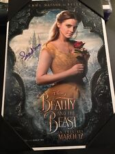 EMMA WATSON SIGNED BEAUTY AND THE BEAST 12X18 PHOTO! FULL BELLE AUTOGRAPH DISNEY