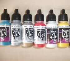 Nail Art Airbrush Paint Set, Blue,Red,White,Yellow,Gold,Silver 6 x 17ml bottles