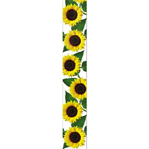 1-1/2-inch Wired Sunflower Ribbon - Offray