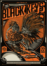 BLACK KEYS poster Sydney AUSTRALIA Ken Taylor 10/22/12 screenprint RED version