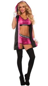 Adult Boxer Knockout Costume Ladies Fighter Fancy Dress Outfit New