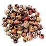 100 pcs Mixed Large Hole Ethnic Pattern Stringing Wood Beads Fashion Jewelry DIY