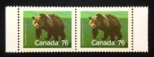 Canada #1178a SP 12.5x13.1 MNH, Grizzly Bear Booklet Strip of Stamps 1989