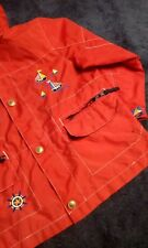 boy clothes 3T toddler hoodie jacket red windbreaker SAILBOATS