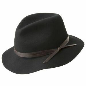 BAILEY Obie 100% Wool Felt Travel Hat Warm MADE IN USA Crushable 1371 Fedora