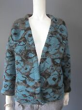 MAISON OLGA 46 % mohair cardigan NEW with TAG   flowers