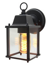 Glass Wall Lantern Outdoor Garden Wall Light Black Body Metal Luminaire Zlc082b