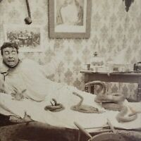 After the Wake 1897 Strohmeyer Wyman Underwood Photo Snakes in Bed Stereoview