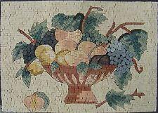 "28""x 20"" Handmade Kitchen Fruit Bowl Backsplash Wall Art Decor Marble Mosaic"