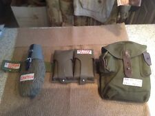 E. German Canteen & Belt, G3 Mag pouch and Romanian AK-47 Mag Pouch