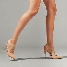 Kurt Geiger Carvela Beige Backless Stiletto Heel Court Shoes Size UK 7 EU 40 New