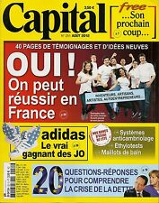 CAPITAL N° 251--REUSSIR EN FRANCE/FREE/ADIDAS/ETHYLOTEST/SYSTEME ANTICAMBRIOLAGE