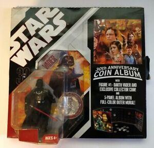 *STAR WARS, 30TH ANNIVERSARY COIN ALBUM W/ DARTH VADER FIGURE - HASBRO - 2006