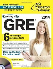 Cracking the GRE with 6 Practice Tests & DVD, 2014 Edition (Graduate School Test