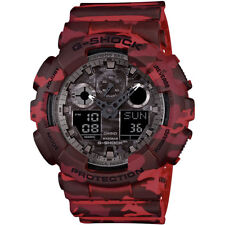 Casio G-Shock Mens Digital Wrist Watch GA100CM-4A  GA-100CM-4A Camo Red