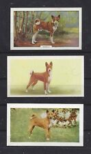 Vintage 1938 - 1961UK Dog Art Cigarette Card Collection Set x 3 BARKLESS BASENJI