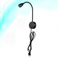 1pcs Flexible Hose Bedside LED Reading Light Wall Mounted Lamp for Bedroom Hotel