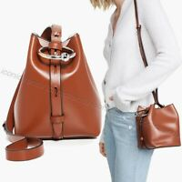 NWT 🐿 Rebecca Minkoff Mini Kate Crossbody Leather Bucket Bag Acorn Brown