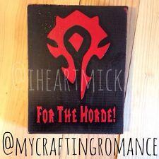 World Of Warcraft Horde Symbol 9.5 x 12 Inch Wood Sign