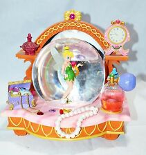TINKERBELL WITH CLOCK SNOW GLOBE, MUSIC BOX SONG TITLE: YOU CAN FLY, DISNEY