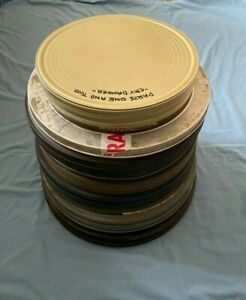 VINTAGE 12 x 16mm 35mm 2200ft 2000 1600 1200 800 film movie cans tins cases