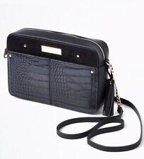River Island Black Boxy Satchel/Messenger/Shoulder Bag/Purse + Tassel Charm