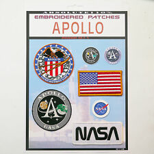 NASA APOLLO 16, Mission Crew Patch Set - Iron-On Patch Mega Set #083