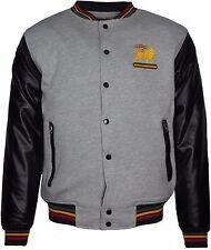 Men's Rasta Baseball Winter jacket Pu Imitation Leather Long Sleeves