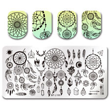 BORN PRETTY Nail Stamping Plates Rectangle Dream Catcher Feather Arrows Image