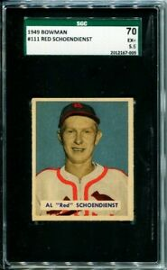 1949 Bowman Red Schoendienst #111 St. Louis Cardinals HOF SGC 5.5 / EX+ 2nd Year