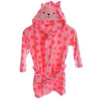 61028f54b9 HEMA Bademantel Kinder Mädchen mit Kapuze rosa Katze Größe 110 - 116 | 122  - 128