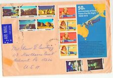 Australia # 675 50Th Anniversary First Trans-Pacific Flight cover And mint s/s