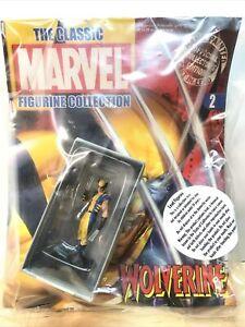 Classic Marvel Figurine Collection #2 Lead X-Men Wolverine Figure Mag Eaglemoss