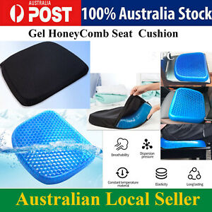 Gel Seat Honeycomb Cushion Comfort Flex Back Support Spine Protector AU Stock