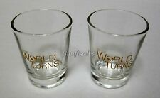 ATWT As The World Turns Shot Glasses From Studio Wrap Party - New Set of Two