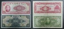 China Banknote 10 yuan 1940 & 1928, 2 Banknotes. VF