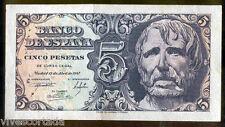 5 Pesetas 1947 Seneca @ Excelente @