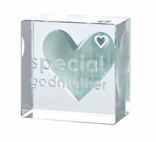 Spaceform Glass Text Token Special Godmother 1790 Special Christening Gift