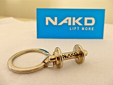 NAKD KEYRING, DUMBBELL, GYM ACCESSORY, LIFT MORE, WEIGHT