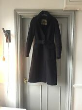 BURBERRY Classic Long Wool & Cashmere Navy Trench Coat