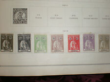 (Lot of 7) 1913 Angola Portugal Ceres Roman Goddess Unused Hinged Stamps