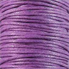 Cordón de Algodón Encerado 1mm – 4m Lavanda para collares y Pulseras de cuentas