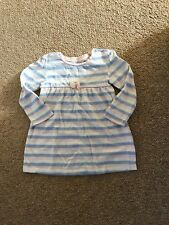 Girls Pink And Blue Stripped Dress Age 18-24 Months